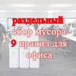 Раздельный сбор мусора в офисе - 9 правил