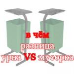 В чём разница между урной и мусоркой?